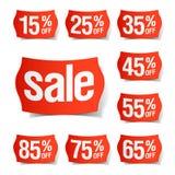 obniżonych cen etykietki royalty ilustracja