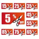 Obniżonych cen etykietki 2 Fotografia Stock