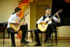 OBNINSK, ΡΩΣΙΑ - 8 ΜΑΡΤΊΟΥ 2018: Εορταστική συναυλία στα παιδιά στοκ εικόνα με δικαίωμα ελεύθερης χρήσης