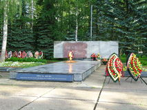 Obninsk eternal flame. The eternal flame on the street Zhukov Royalty Free Stock Images