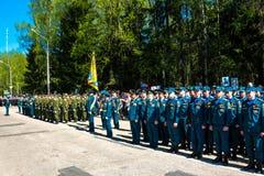 Obninsk, Rússia - 9 de maio de 2016: Celebração de Victory Day, grande guerra patriótica 1941-1945 imagem de stock