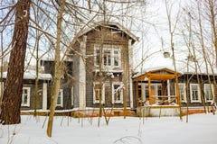 Obninsk, Rússia - em fevereiro de 2018: O solar de Bugry do final do século XIX fotos de stock