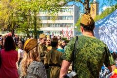 Obninsk Rosja, Maj, - 9, 2016: Świętowanie zwycięstwo dzień, Wielka Patriotyczna wojna 1941-1945 obrazy stock