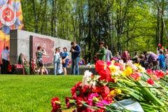 Obninsk Rosja, Maj, - 9, 2016: Świętowanie zwycięstwo dzień, Wielka Patriotyczna wojna 1941-1945 fotografia stock