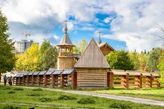 OBNINSK ROSJA, WRZESIEŃ, - 2016: Kościół na cześć męczennika Panteleimon Świętego Wielkiego uzdrowiciela i obrazy stock