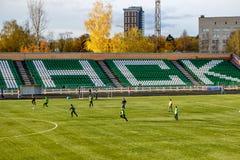 OBNINSK, RUSIA - OCT 2017: El estadio de fútbol fotografía de archivo libre de regalías