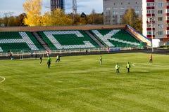 OBNINSK, RUSIA - OCT 2017: El estadio de fútbol fotografía de archivo