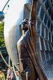 Obninsk, Rusland - Juli 2016: Monument aan de pioniers van kernenergie in Obninsk stock afbeeldingen
