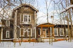 Obninsk, Russia - February 2018: The Bugry Manor of the late 19th century stock images