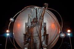 Obninsk, Russie - juillet 2018 : Monument aux pionniers de l'énergie nucléaire photo libre de droits