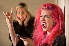 Obnoxious Girl Singing Royalty Free Stock Image