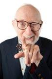 obnoxious pensionär för man Royaltyfria Foton