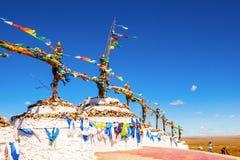 Obo (Aobao) - totem mongolo Fotografie Stock