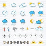 obłocznych ikon podeszczowa słońca pogoda Obraz Royalty Free