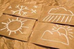 obłocznych ikon podeszczowa słońca pogoda Fotografia Royalty Free
