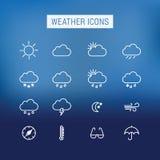 obłocznych ikon podeszczowa słońca pogoda Obrazy Stock