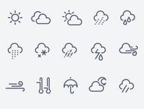 obłocznych ikon podeszczowa słońca pogoda Fotografia Stock