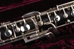 Oboe with case Royalty Free Stock Image