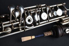 Oboe classic woodwind instruments Stock Images