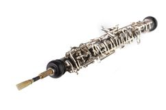 Oboe with double reed mouthpiece Royalty Free Stock Image