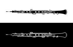 Oboe - instrument för vektororkestermusik Arkivbilder