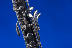 Oboe Isolated On Blue Stock Image
