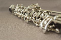 Oboe. The photo of the musical wind wooden instrument oboe Royalty Free Stock Photo