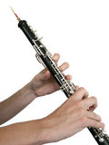 Oboe player Stock Images