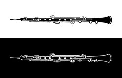 Oboe - Vector Orchestra Music Instrument Stock Images