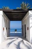 obok plażowy piękny ogród Zdjęcia Royalty Free