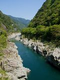 Oboke Gorge. In Tokushima, Japan Royalty Free Stock Photo