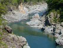 Oboke Gorge. In Tokushima, Japan Stock Photos