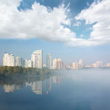Obolon district skyline in Kyiv, Ukraine. Stock Photography