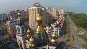 Obolon-municipal administrative district in Kiev stock video footage