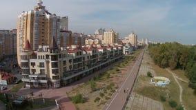 Obolon-municipal administrative district in Kiev stock video