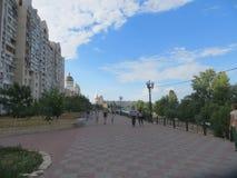 Obolonska embankment.  Stock Photography