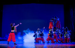 Oboo tower-The Mongolians-The national folk dance Royalty Free Stock Photography