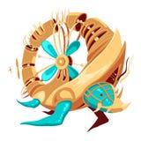 Obot-tortue en forme d'anneau avec le propulseur de tourqoise Illustration Libre de Droits