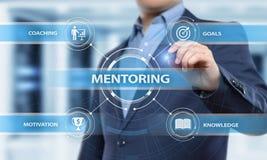 Obowiązki mentora motywaci trenowania sukcesu kariery Biznesowy pojęcie zdjęcia stock