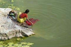 obowiązki w domu hindusa styl Obrazy Royalty Free