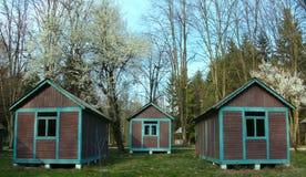 Obozów domy Obrazy Stock