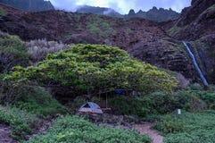 Obozować w Kauai Fotografia Royalty Free