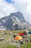 obozowe góry Zdjęcia Stock