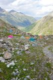 obozowe góry Zdjęcie Stock