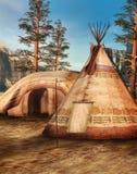 obozowe indyjskie góry Zdjęcia Royalty Free