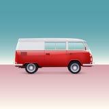 Obozowicza klasyczny samochód dostawczy Fotografia Royalty Free