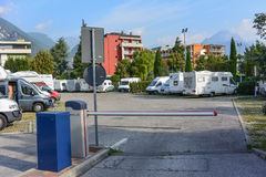 Obozowicza parking Fotografia Royalty Free