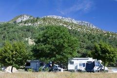 obozowiska campsite Obraz Stock