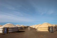 obozowy Ger Mongolia Zdjęcie Stock