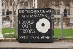 obozowy London pokoju protest Zdjęcia Stock